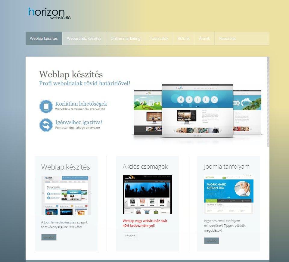 Joomla weboldal készítés