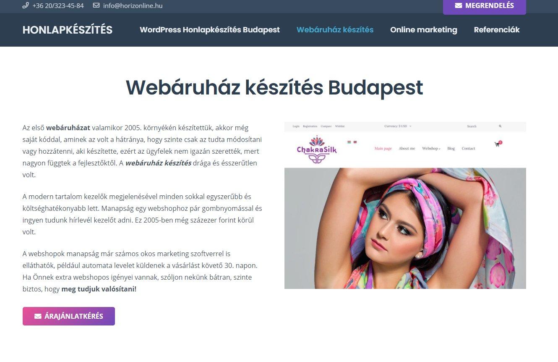 trendi webshop készítése ügyfeleinknek